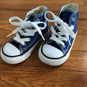 Blue Converse High Top Sneakers.  Infant Size 6.